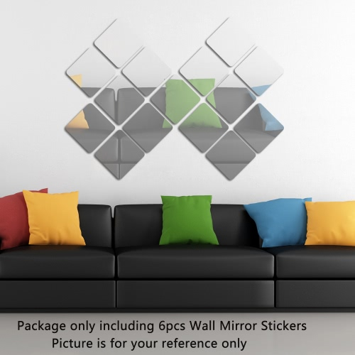 6pcs/set Acrylic Squares Wall Mirror Stickers Room Bedroom Kitchen Bathroom Stick Decal Home Party Decoration Decor Art Mural SticHome &amp; Garden<br>6pcs/set Acrylic Squares Wall Mirror Stickers Room Bedroom Kitchen Bathroom Stick Decal Home Party Decoration Decor Art Mural Stic<br>