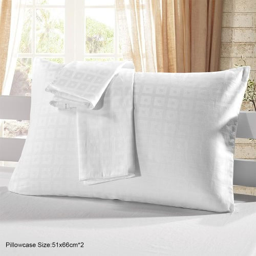 2pcs/set Cotton Pillow Case White Check Pattern Pillow Slip Well-made Soft Pillowcases Plaid Pattern Pillow Slipcover with HiddenHome &amp; Garden<br>2pcs/set Cotton Pillow Case White Check Pattern Pillow Slip Well-made Soft Pillowcases Plaid Pattern Pillow Slipcover with Hidden<br>