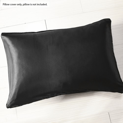 2pcs/set Soft Silk-like Pillow Cases Well-made Envelope Type Pillow Slipcover Silky Smooth Pillowcase Solid Color Pillow Slip--KinHome &amp; Garden<br>2pcs/set Soft Silk-like Pillow Cases Well-made Envelope Type Pillow Slipcover Silky Smooth Pillowcase Solid Color Pillow Slip--Kin<br>