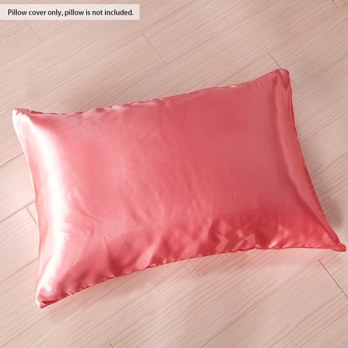 2pcs/set Soft Silk-like Pillow Cases Well-made Envelope Type Pillow Slipcover Silky Smooth Pillowcase Solid Color Pillow Slip--StaHome &amp; Garden<br>2pcs/set Soft Silk-like Pillow Cases Well-made Envelope Type Pillow Slipcover Silky Smooth Pillowcase Solid Color Pillow Slip--Sta<br>