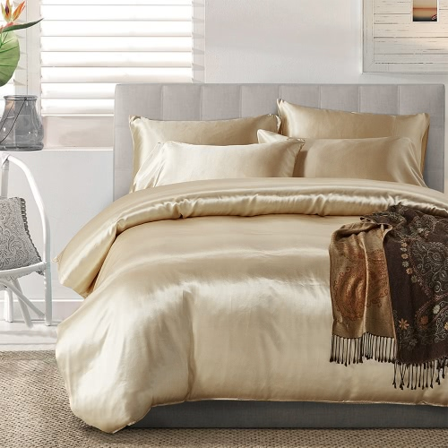 Silk-like Bedding Set Well-made Soft Silky Smooth Duvet Cover &amp; Pillowcase Sets Nice Home TextilesHome &amp; Garden<br>Silk-like Bedding Set Well-made Soft Silky Smooth Duvet Cover &amp; Pillowcase Sets Nice Home Textiles<br>