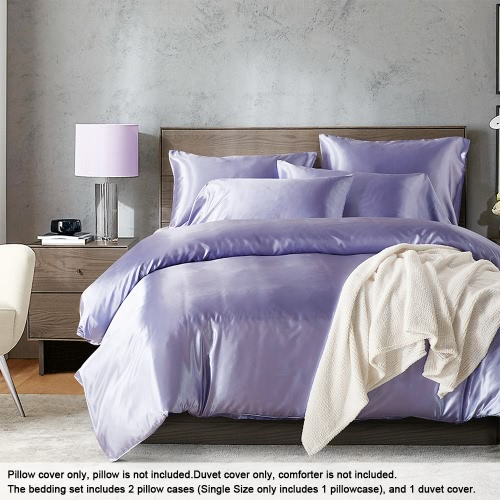 Silk-like Bedding Set Well-made Duvet Cover Set Silky Smooth Soft Duvet Cover &amp; Pillowcase SetsHome &amp; Garden<br>Silk-like Bedding Set Well-made Duvet Cover Set Silky Smooth Soft Duvet Cover &amp; Pillowcase Sets<br>