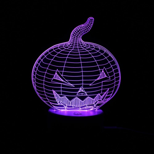 3D Optical Illusion Colorful LED Table Lamp USB Powered Touch Button Halloween Night Light Home Decoration--PumpkinHome &amp; Garden<br>3D Optical Illusion Colorful LED Table Lamp USB Powered Touch Button Halloween Night Light Home Decoration--Pumpkin<br>