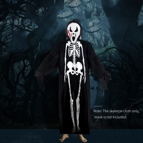 Adults Printed Skeleton Costume Men Women Scary Ghost Halloween Costumes for Cosplay Masquerade Party Fancy DressHome &amp; Garden<br>Adults Printed Skeleton Costume Men Women Scary Ghost Halloween Costumes for Cosplay Masquerade Party Fancy Dress<br>