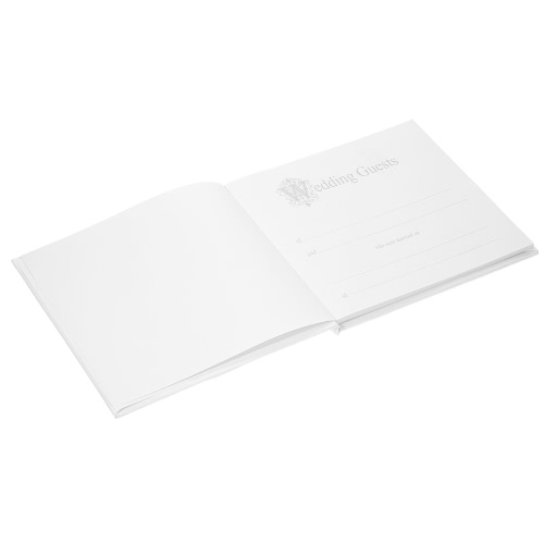 72-Pages White Floral Satin Cover Wedding Guest Book Hardcover Double-Sided Wedding GuestbookHome &amp; Garden<br>72-Pages White Floral Satin Cover Wedding Guest Book Hardcover Double-Sided Wedding Guestbook<br>
