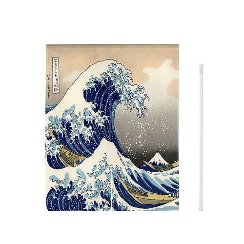 33 * 55 Japanese Style Doorway Curtain Canvas Room Door Privacy Noren Curtain Tapestry Home Decoration with Tension Rod--WaveHome &amp; Garden<br>33 * 55 Japanese Style Doorway Curtain Canvas Room Door Privacy Noren Curtain Tapestry Home Decoration with Tension Rod--Wave<br>