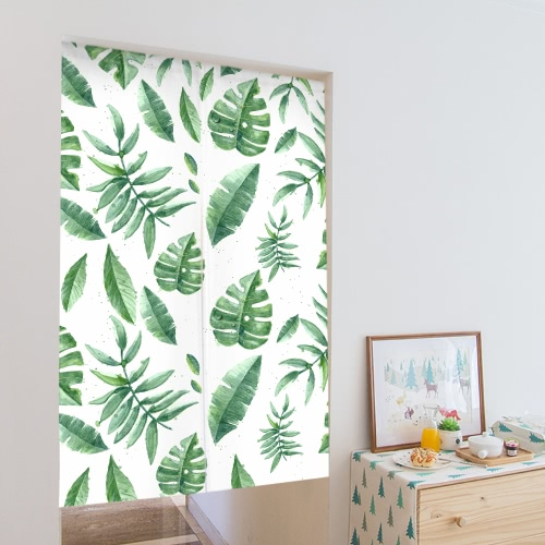 33 * 55 Nature Style Doorway Curtain Canvas Room Door Privacy Noren Curtain Tapestry Home Decoration with Tension Rod--LeafHome &amp; Garden<br>33 * 55 Nature Style Doorway Curtain Canvas Room Door Privacy Noren Curtain Tapestry Home Decoration with Tension Rod--Leaf<br>