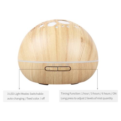 300ml Ultrasonic Mist Air Humidifier Aromatherapy Aroma Essential Oil Diffuser with Timing Function Colorful LED Light for Home OfHome &amp; Garden<br>300ml Ultrasonic Mist Air Humidifier Aromatherapy Aroma Essential Oil Diffuser with Timing Function Colorful LED Light for Home Of<br>