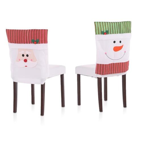2pcs/set Christmas Chair Back Covers Snowman Santa Christmas Dinner Slipcovers Set Decorations OrnamentsHome &amp; Garden<br>2pcs/set Christmas Chair Back Covers Snowman Santa Christmas Dinner Slipcovers Set Decorations Ornaments<br>