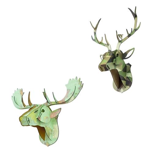 3D Wooden Deer Animal Head DIY Wood Home Decor Kit Art Crafts Wall Hanging Decor Pendant Best Gifts Style 1Home &amp; Garden<br>3D Wooden Deer Animal Head DIY Wood Home Decor Kit Art Crafts Wall Hanging Decor Pendant Best Gifts Style 1<br>