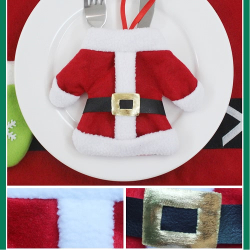 3 Sets of Christmas Santa Suit Coats Pants Style Cutlery Holders Fork Knife Spoon Bags Pocekts Set Christmas Decor OranmentsHome &amp; Garden<br>3 Sets of Christmas Santa Suit Coats Pants Style Cutlery Holders Fork Knife Spoon Bags Pocekts Set Christmas Decor Oranments<br>