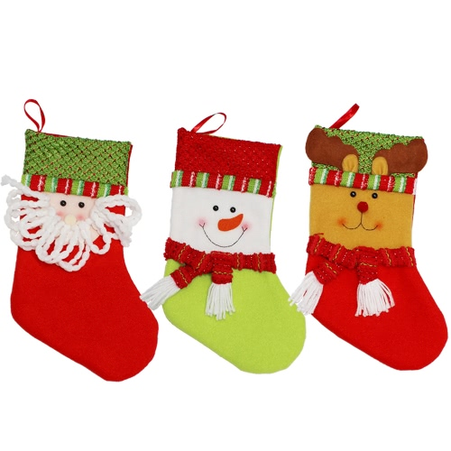 3pcs/set Christmas Hanging Stockings Santa Snowman Reindeer Gift Candy Bags Christmas Decoartions OrnamentsHome &amp; Garden<br>3pcs/set Christmas Hanging Stockings Santa Snowman Reindeer Gift Candy Bags Christmas Decoartions Ornaments<br>