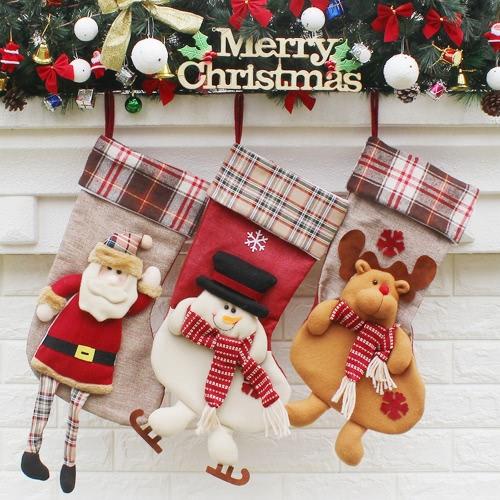 Christmas Hanging Stockings Gift Candy Bag Christmas Decoartions Ornaments--SantaHome &amp; Garden<br>Christmas Hanging Stockings Gift Candy Bag Christmas Decoartions Ornaments--Santa<br>