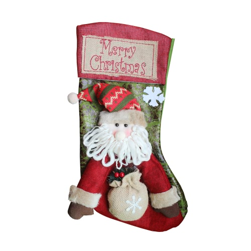 Merry Christmas Hanging Stockings Gift Candy Bag Christmas Decoartions Ornaments--SantaHome &amp; Garden<br>Merry Christmas Hanging Stockings Gift Candy Bag Christmas Decoartions Ornaments--Santa<br>