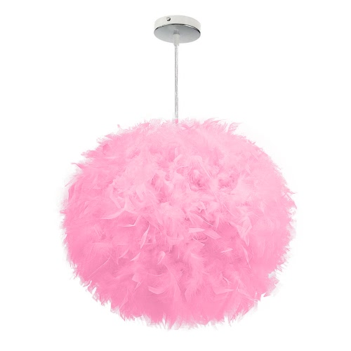 Bedroom Child Bedroom Decorates the Exhibition Hall Personality Style Simple Decoration Feather Ball Lamp DroplightHome &amp; Garden<br>Bedroom Child Bedroom Decorates the Exhibition Hall Personality Style Simple Decoration Feather Ball Lamp Droplight<br>