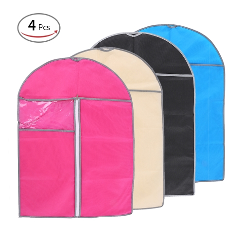 Esonmus 4pcs 60 * 80cm Non-Woven Dustproof Hanging Garment Bags Clothes Suit Organizers Covers with PVC Visible Window for ClosetHome &amp; Garden<br>Esonmus 4pcs 60 * 80cm Non-Woven Dustproof Hanging Garment Bags Clothes Suit Organizers Covers with PVC Visible Window for Closet<br>