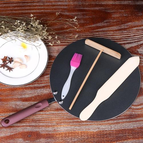Pancake Pan Crepe Maker Flat Pan Griddle Pan with Spreader &amp; Spatula Crepe Maker GriddleHome &amp; Garden<br>Pancake Pan Crepe Maker Flat Pan Griddle Pan with Spreader &amp; Spatula Crepe Maker Griddle<br>