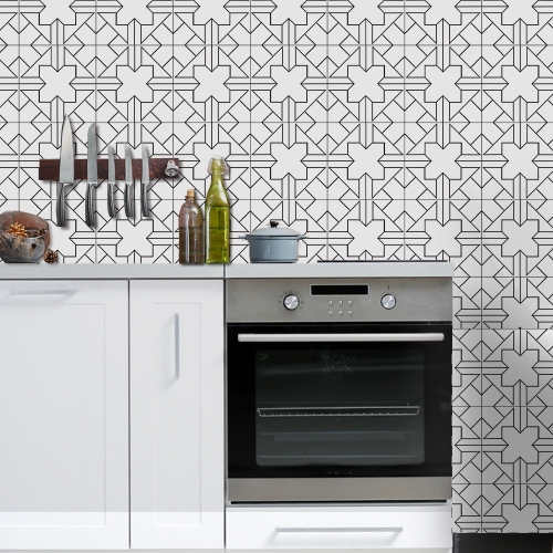 196 * 8 inches PVC Waterproof Self-adhesive 3D Black White Tile Wallpaper Roll Wall Floor Contact Paper Stickers Covering Decal HoHome &amp; Garden<br>196 * 8 inches PVC Waterproof Self-adhesive 3D Black White Tile Wallpaper Roll Wall Floor Contact Paper Stickers Covering Decal Ho<br>