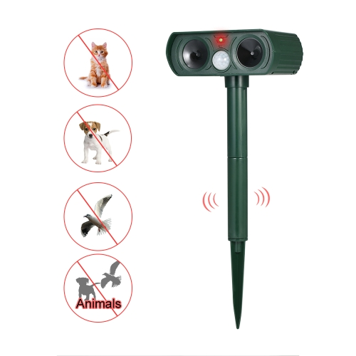 Solar Powered Ultrasonic Pest Repeller Motion Activated Outdoor Animal Repellent for Repelling Animals Cats Dogs BirdsHome &amp; Garden<br>Solar Powered Ultrasonic Pest Repeller Motion Activated Outdoor Animal Repellent for Repelling Animals Cats Dogs Birds<br>