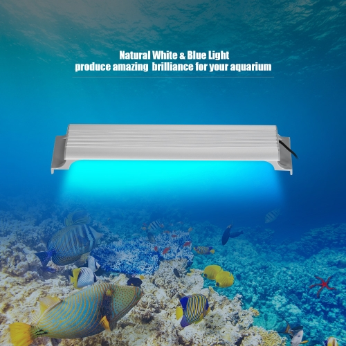 Aquarium LED Lighting Fish Tank Light Hood with White &amp; Blue LEDs 5730 Lamp Beads for 35/ 40/ 47inch AuaqriumHome &amp; Garden<br>Aquarium LED Lighting Fish Tank Light Hood with White &amp; Blue LEDs 5730 Lamp Beads for 35/ 40/ 47inch Auaqrium<br>