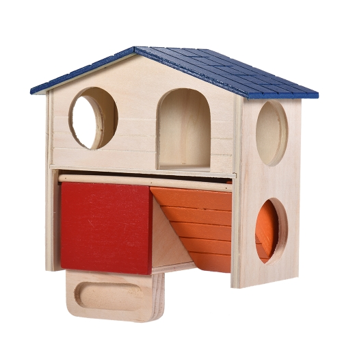 Hamster House Home Wooden Hideout Hut Cabin Two Layers Small Animal Pet Rat Mice Chinchilla Galesaur Playground ToyHome &amp; Garden<br>Hamster House Home Wooden Hideout Hut Cabin Two Layers Small Animal Pet Rat Mice Chinchilla Galesaur Playground Toy<br>