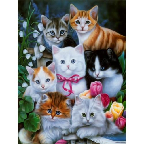 12 * 16 pollici / 30 * 40 cm DIY Pittura Diamante 5D Kit Gatto Modello Animale Resina Strass Mosaico Ricamo Punto Croce Mestiere Decorazione Della Parete di Casa