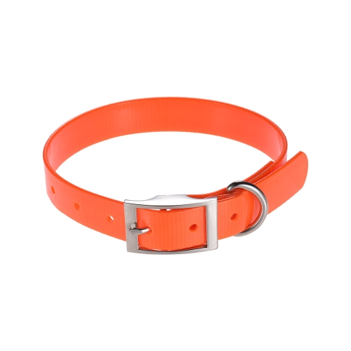 SSC002TY TPU Dog Collar Adjustable Durable Waterproof Pet Dog Collar Strap Pure Color