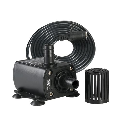 Decdeal Ultra silencioso Mini DC12V 10W 400L / H Lift 400cm Bomba de agua sin escobillas 5.5 * 2.1mm Fuente sumergible hembra con función de ajuste de flujo