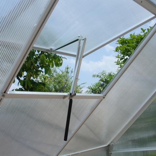 Abridor de ventilación automático de control de temperatura de invernadero de un solo muelle