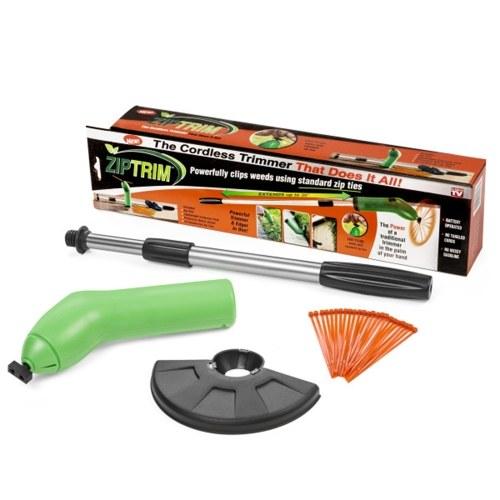 Zip Trim Cordless Trimmer & Edger Работает со стандартными Zip Ties Портативный триммер для садового декора