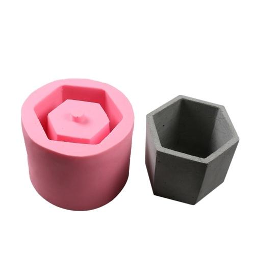 Molde do silicone do chocolate do bolo da planta do vaso do cimento do vaso 1Pcs