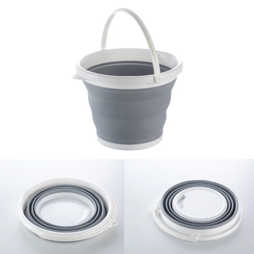 Portable Outdoor Fishing Travel Foldable Bucket with Handle