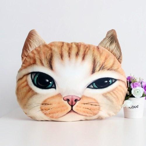 Cuscino Tiro a forma di testa di animali in peluche 3D