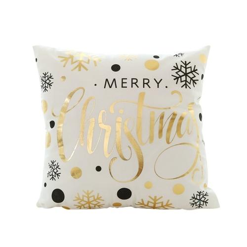 Federa per cuscino in lamina d'oro di Natale