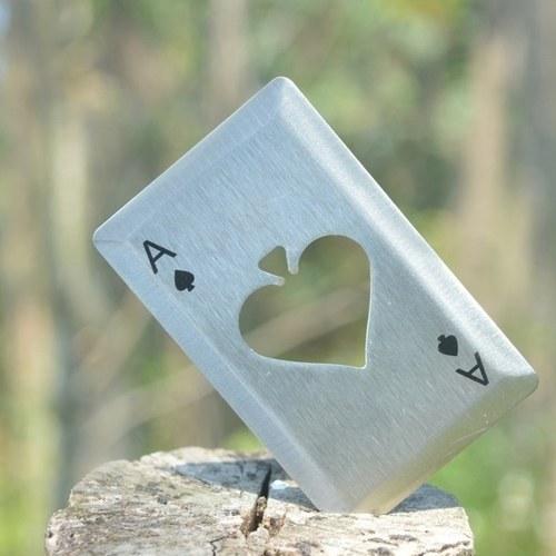 Póker al aire libre de la tarjeta del abrebotellas de cerveza del acero inoxidable