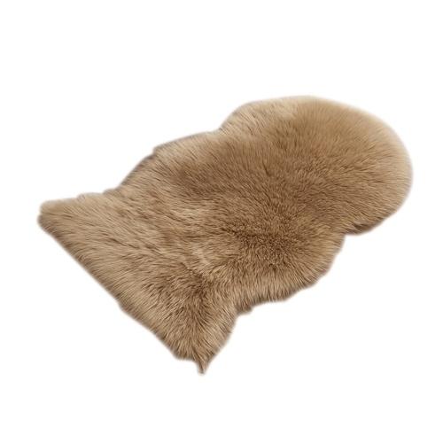 Tapete fofo de pele de carneiro lavável super macio
