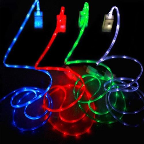 Творческий интеллектуальный универсальный светодиодный телефон для зарядки телефона USB-кабель