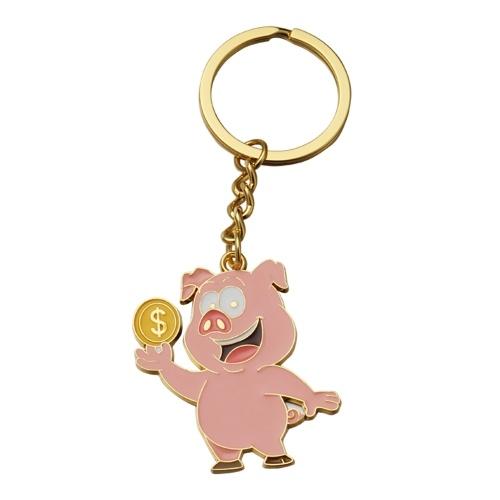 Fashion Simple Pig Key Ring