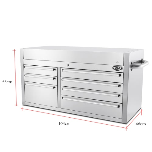 THOR HTC4112W-1 High-end Good Quality Anti-fingerprint Stainless Steel Tool Chests 41 Inch 7 Drawers Tool Box Practical Top Tool SHome &amp; Garden<br>THOR HTC4112W-1 High-end Good Quality Anti-fingerprint Stainless Steel Tool Chests 41 Inch 7 Drawers Tool Box Practical Top Tool S<br>
