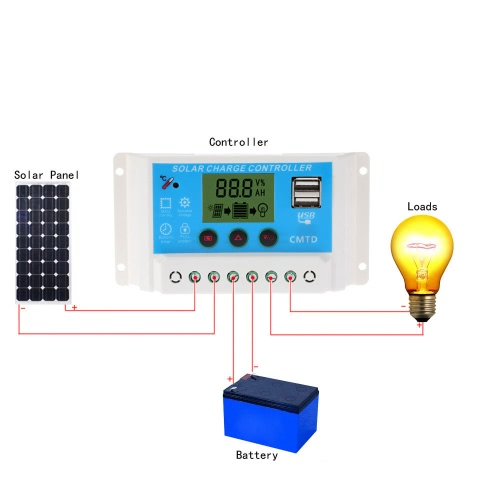 Anself 10A 12V/24V Solar Charge Controller with LCD Display Auto Regulator Timer Solar Panel Battery Lamp LED Lighting Overload PrHome &amp; Garden<br>Anself 10A 12V/24V Solar Charge Controller with LCD Display Auto Regulator Timer Solar Panel Battery Lamp LED Lighting Overload Pr<br>