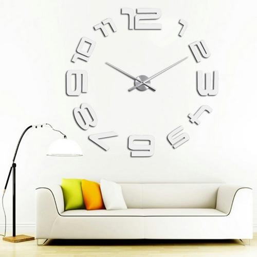 Modern DIY Wall Clock Simple Digits Decor Sticker Set Mirror Effect Acrylic Glass Decal Removable Home DecorationHome &amp; Garden<br>Modern DIY Wall Clock Simple Digits Decor Sticker Set Mirror Effect Acrylic Glass Decal Removable Home Decoration<br>
