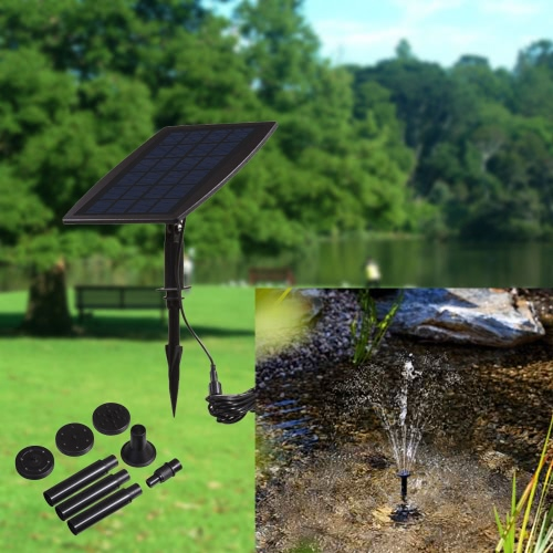 Solar Power Panel Landscape Pool Garden Fountains Pluggable Solar Power Decorative Fountain 9V 2.5W Water PumpHome &amp; Garden<br>Solar Power Panel Landscape Pool Garden Fountains Pluggable Solar Power Decorative Fountain 9V 2.5W Water Pump<br>