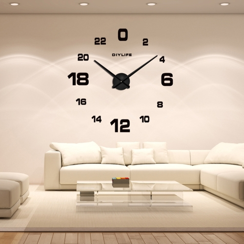 Modern 3D DIY Wall Clock Quartz Clocks Large Horloge Watch Acrylic Glass Mirror Effect for Home Living Room Decor DecorationHome &amp; Garden<br>Modern 3D DIY Wall Clock Quartz Clocks Large Horloge Watch Acrylic Glass Mirror Effect for Home Living Room Decor Decoration<br>