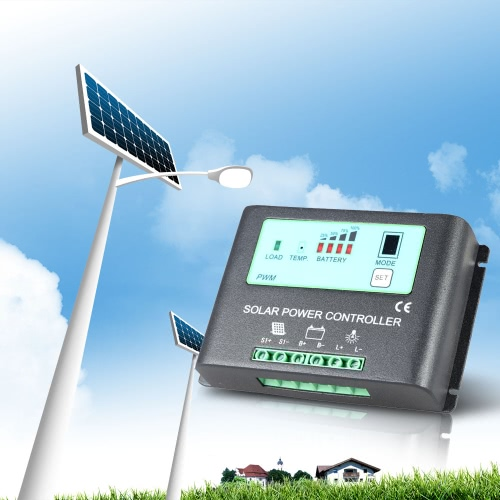 Intelligent 20A 12V/24V Solar Charge Controller Metal Case Auto-ID PWM Regulator Time-Control Solar Power Panel Battery Lamp LightHome &amp; Garden<br>Intelligent 20A 12V/24V Solar Charge Controller Metal Case Auto-ID PWM Regulator Time-Control Solar Power Panel Battery Lamp Light<br>