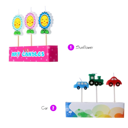 Douself 3pcs Lovely Cartoon Birthday Cake Candles Colorful Party Baking Decorations Supply Especially for KidsHome &amp; Garden<br>Douself 3pcs Lovely Cartoon Birthday Cake Candles Colorful Party Baking Decorations Supply Especially for Kids<br>