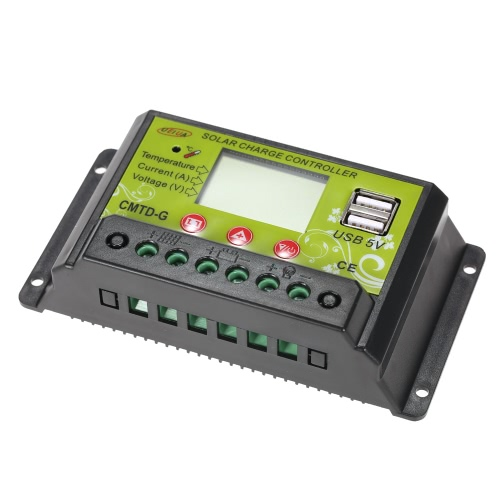 20A 12V/24V Multi-functional PWM Solar Charge Controller with LCD Display Auto Regulator Solar Panel Battery Lamp Overload ProtectHome &amp; Garden<br>20A 12V/24V Multi-functional PWM Solar Charge Controller with LCD Display Auto Regulator Solar Panel Battery Lamp Overload Protect<br>