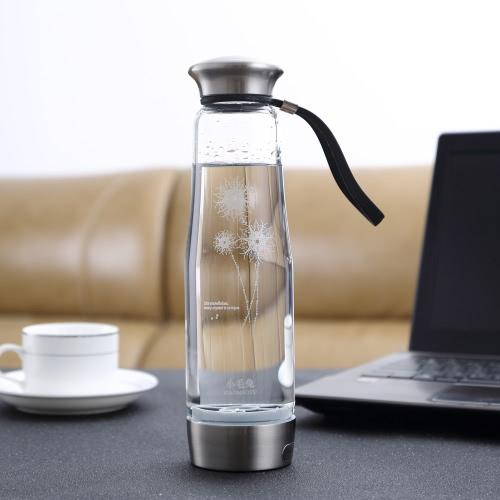 500ML Smart Touch di idrogeno portatile Rich Ionizzatore bottiglia Maker Generatore ricaricabile resistente al calore brocca di vetro tazza dell'acqua BPA-libera W / autopulente Funzione