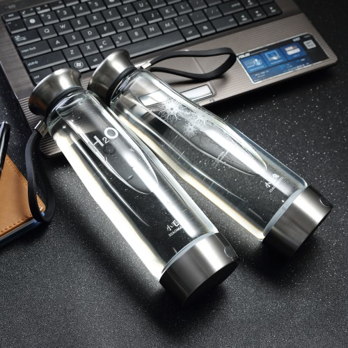 500ML Smart Touch Portable Hydrogen Rich Water Ionizer Bottle Maker Generator Rechargeable Heat-resistant Glass Water Pitcher CupHome &amp; Garden<br>500ML Smart Touch Portable Hydrogen Rich Water Ionizer Bottle Maker Generator Rechargeable Heat-resistant Glass Water Pitcher Cup<br>