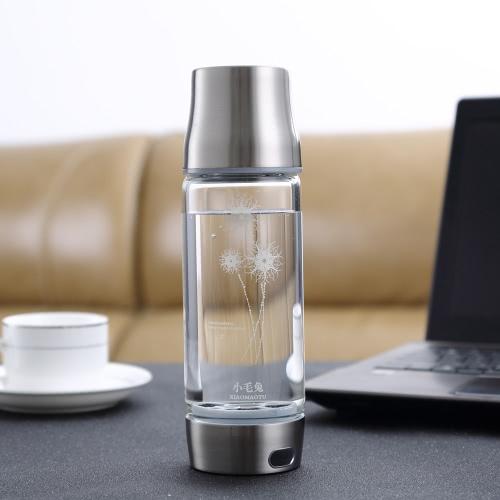 450ML Smart Touch di idrogeno portatile Rich Ionizzatore bottiglia Maker Generatore ricaricabile resistente al calore brocca di vetro acqua BPA-libera W / autopulente Funzione & coperchio della tazza