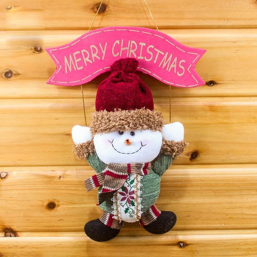 Festnight Lovely Christmas Santa Claus Snowman Hanging Pendant Ornament Xmas Tree Door Decor Festival Party DecorationsHome &amp; Garden<br>Festnight Lovely Christmas Santa Claus Snowman Hanging Pendant Ornament Xmas Tree Door Decor Festival Party Decorations<br>